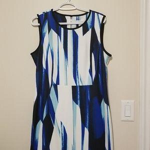 Calvin Klein sleeveless knee-length sheath dress